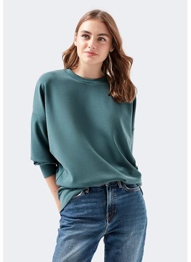 Mavi Yeşil Sweatshirt Yeşil